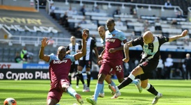 West Ham drew with Newcastle. AFP