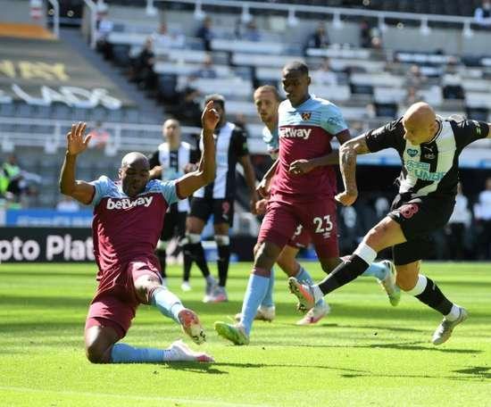 West Ham drew with Newcastle. AFP
