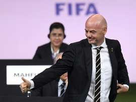 Gianni Infantino hopes a Chinese bid for the 2030 World Cup will be considered. AFP