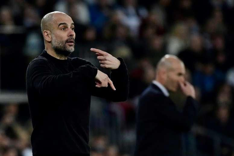 Guardiola volvió a vencer al Real Madrid. AFP