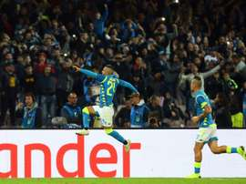 Insigne drew Napoli level. AFP