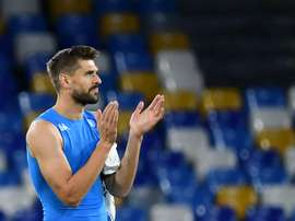 Llorente has only made three Serie A appearances this season. AFP