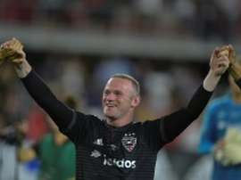 Wayne Rooney of DC United celebrates after a MLS match in Washington, DC, on July 14, 2018