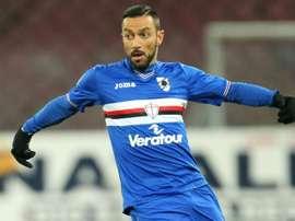 La Sampdoria empató en el último minuto. AFP