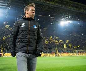Jogador do Hoffenheim a festetar o quarto gol da equipe. EFE