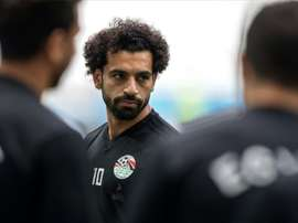 Salah could start again for Egypt, having missed the opening game. AFP