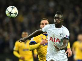 Davinson Sanchez plays with Kane at Tottenham. AFP
