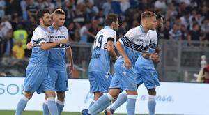 La Lazio derrotó al Sarpsborg 08. AFP
