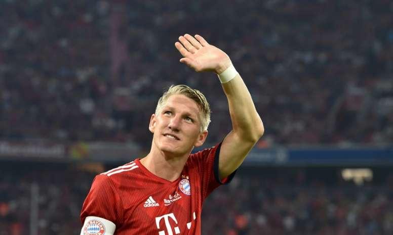 El ex del Bayern Schweinsteiger cuelga las botas. AFP
