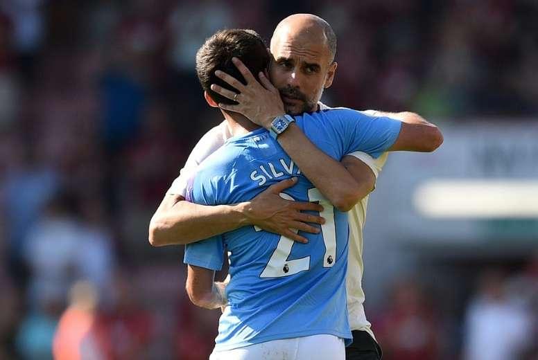 Guardiola lamentó no haber tenido suerte con el VAR. AFP
