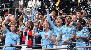 La prime de Manchester City pour le triplé anglais. AFP
