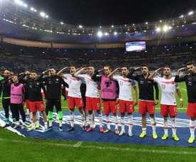 UEFA are investigating. AFP
