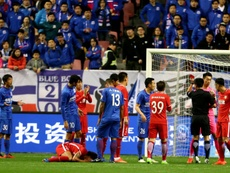 China has seen a surge in red cards this season. AFP