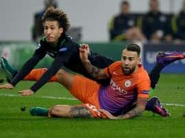 El 'Gladbach no ha podido con el City, al que el empate valía para estar en octavos. AFP