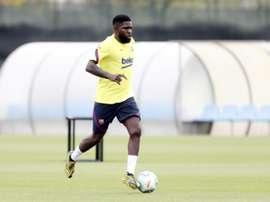 Samuel Umtiti has COVID-19. AFP