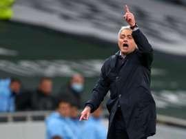 Mourinho évoque la course au titre. AFP