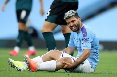 Aguero would have to take a large pay cut to stay at Man City. AFP