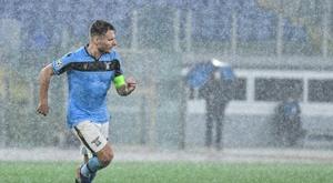 Ciro Immobile scored in Lazio's 2-2 draw with Brugge. AFP