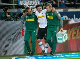 Stindl sustained an ankle injury and had to be escorted off. GOAL