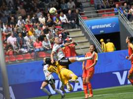 Germany came out on top in tight game. AFP