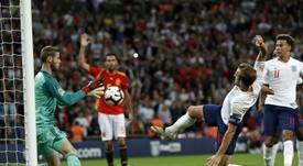 Kane criticó el gol anulado a Welbeck. AFP