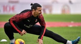 Zlatan Ibrahimovic se lesionou durante treino na segunda-feira. AFP