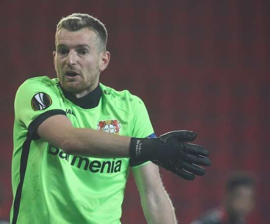 Hradecky laughed off the error. AFP