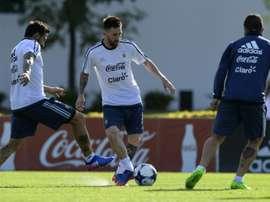 La 'Albiceleste' ya prepara el próximo partido de la fase de clasificación para el Mundial. AFP