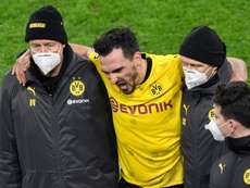 Mats Hummels (C) has shaken off an ankle injury suffered against Lazio. AFP