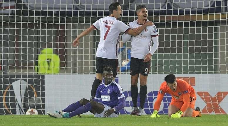 El Milan hizo pedazos al Austria de Viena. AFP