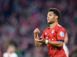 Serge Gnabry celebrates every goal in the same way. AFP
