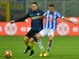 El Inter no tuvo problemas para llevarse los tres puntos. AFP