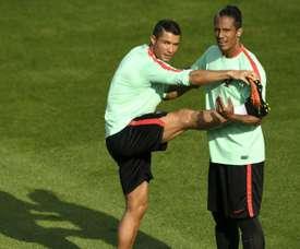 Bruno Alves quiere seguir en el Mundial. AFP