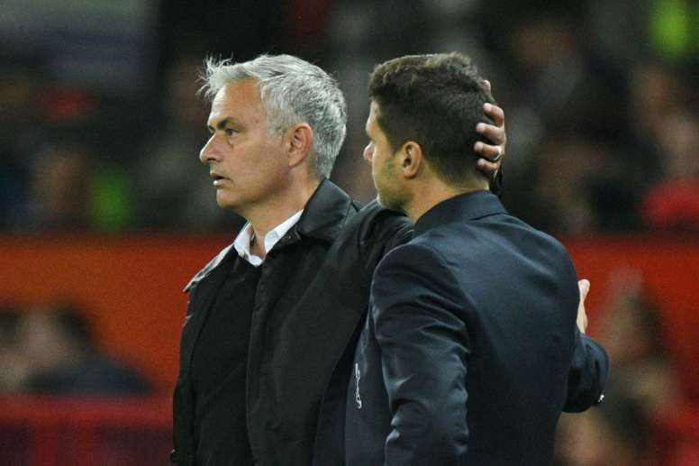 Mou arrived at Tottenham to replace Pochettino. AFP