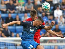 Hoffenheim drew 1-1 at home to Hertha Berlin on Sunday. AFP