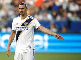 Ibrahimovic has vowed to break every MLS record this season. AFP