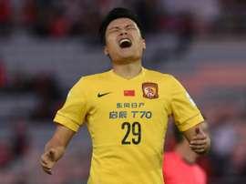 Guangzhou Evergrande forward Gao Lin