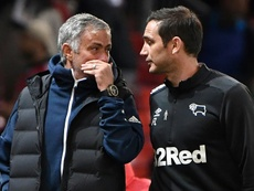 Frank Lampard (R) has a lot of respect for Jose Mourinho (L). AFP