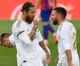 Ramos and Carvajal missed Real Madrid training. AFP