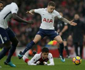 Tottenham's Kieran Trippier has become famous for his attacking contributions. AFP