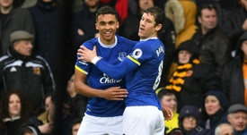 Dominic Calvert-Lewin got his first Premier League goal.