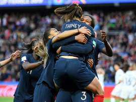 Wendie Renard scored a brace in France's 4-0 win over South Korea. AFP