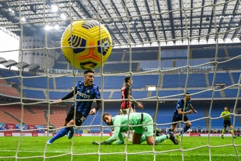Lautaro apenas sairia da Inter se for para ir ao Real, Barça ou Atlético de Madrid. AFP
