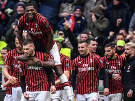 AC Milan won 3-2. AFP