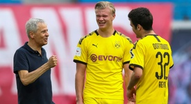 Dortmund révèle son nouveau maillot pour la saison 2020-2021. AFP