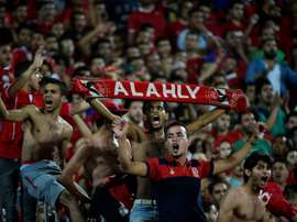 Fans of Egypts Al Ahly cheer on their team on July 8, 2017