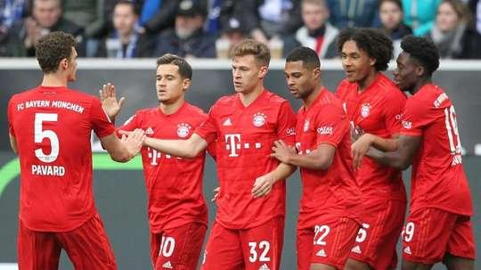 Bayern Munich play their first match since the banner incident at Hoffenheim. AFP