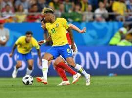 Neymar no tuvo un gran día contra Suiza, y Costa Rica espera anularle de nuevo. AFP