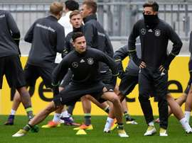 Germany attend a training session in Hamburg on October 6, 2016 prior to the WC 2018 qualification match against the Czech Republic