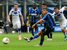 Alexis Sanchez scored one and set up one in Inter's 6-0 victory. AFP